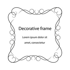 Vintage scroll baroque frame, decorative design element.