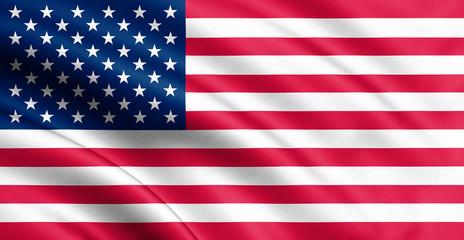 Waving USA flag. 3d illustration for your design.
