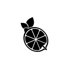 Vector Lemonade Online logo design template and support icon modern. Black color.