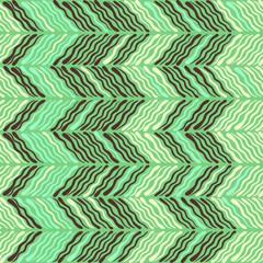 Tuinposter Tropische Bladeren Abstract Ikat and boho style handcraft fabric pattern. Traditional Ethnic design for clothing and textile background, carpet or wallpaper