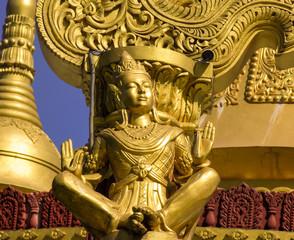Golden buddha statue in Bandarban Bangladesh