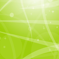 Light green abstract background with stars, circles and stripes. Flat vector illustration.