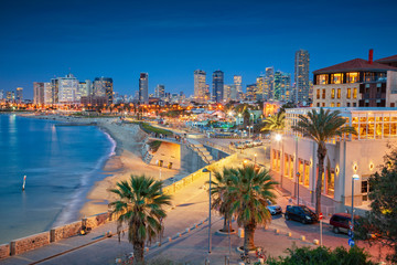 Tel Aviv Skyline. Cityscape image of Tel Aviv, Israel during sunset.