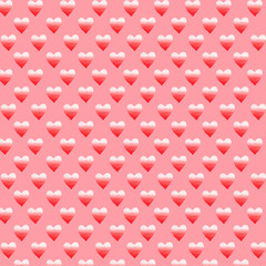 Hearts pattern Valentine's Day watercolor