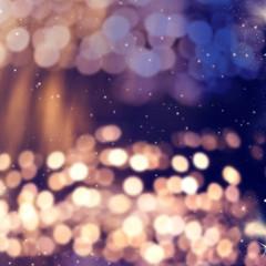 blurred bokeh of Christmas lights