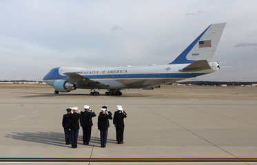 Bush family depart Washington with the remains of U.S. President George H.W. Bush at Joint Base Andrews