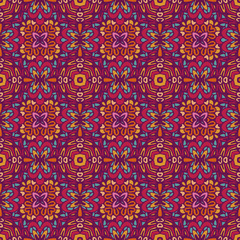 Abstract colorful geometric ethnic seamless pattern ornamental