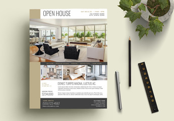 Bronze Real Estate Open House Flyer Layout