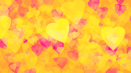 abstract background of gold yellow hearts gold  background plastic pink