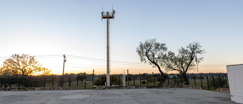 United States Border Patrol Camera overlooking Border Wall