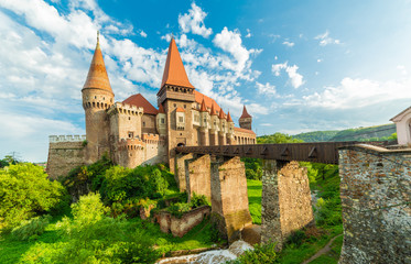 Wall Mural - Medieval Hunyad Corvin castle, Hunedoara town,Transylvania regiom, Romania, Europe