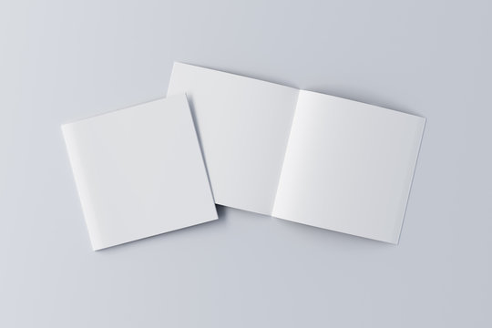 Open and closed  blank booklet