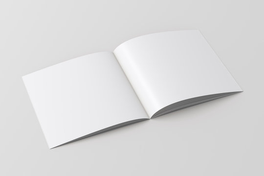 Open blank square booklet