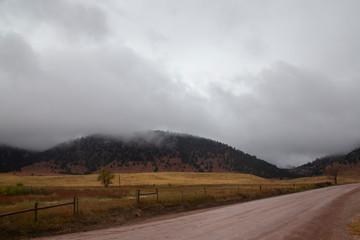 Misty Hillsides