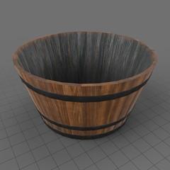 Empty flower barrel