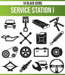 Black Icon Set Service Station I