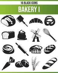 Black Icon Set Bakery I