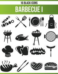 Black Icon Set Barbecue I