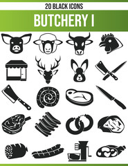 Black Icon Set Butchery I