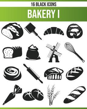 Black Icon Set Bakery I