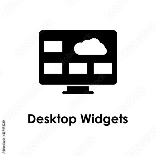 monitor, pc, cloud, desktop widgets icon  One of the