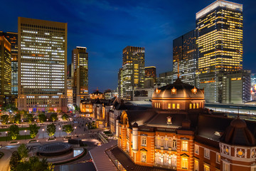 Tokyo Station in Tokyo, japan