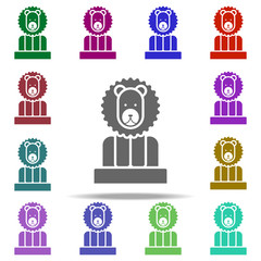 lion in the arena icon. Elements of circus in multi color style icons. Simple icon for websites, web design, mobile app, info graphics
