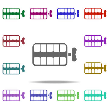 comic teeth icon. Elements of Day of jokes in multi color style icons. Simple icon for websites, web design, mobile app, info graphics