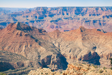 view of Grand Canyon from desert view lookout