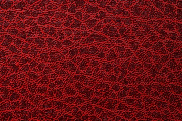 Striped old red leather, abstract background