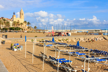 Late afternoon on Sitges beach