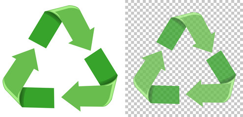 Set of green recycle icon