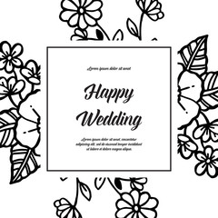 Collection of wedding card with floral hand draw
