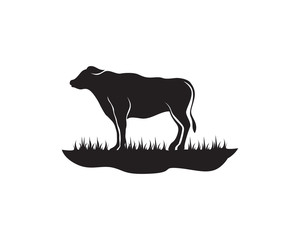 Cow Logo Template vector icon illustration