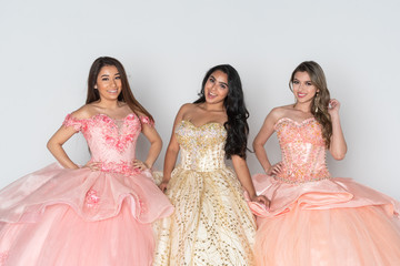 Teen Girls In Quinceanera Dresses
