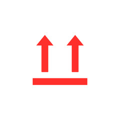 arrow up, packaging box symbol