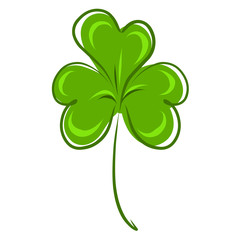Stock Illustration Green Clover Leaf