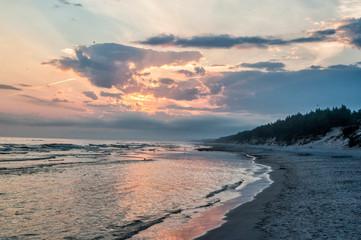 Fototapeta wschód słońca morze  obraz
