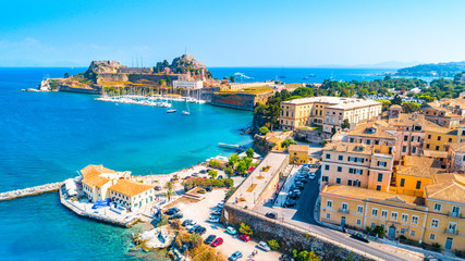 Panoramic view of Kerkyra, capital of Corfu island, Greece Fototapete