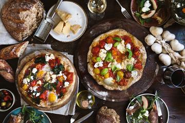 Pizza food photography recipe idea