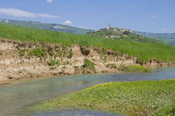Foto auf Leinwand Fluss Buzet an der Mirna in Istrien