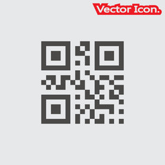 Barcode icon isolated sign symbol and flat style for app, web and digital design. Vector illustration.