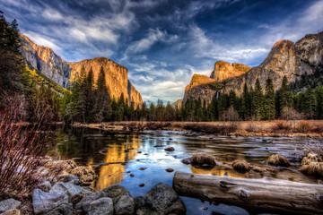 Yosemite Valley View at Sunset, Yosemite National Park, California