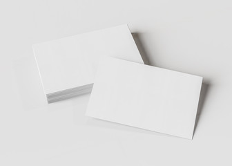 Business card mockup isolated 3d rendering