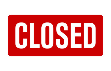 Red closed sign for retail/store vector for websites and print