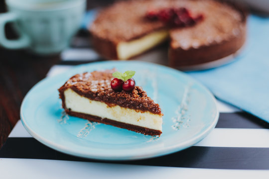 Chocolate pie with cottage cheese