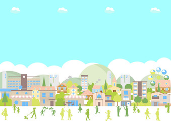 街並み 風景 イラスト