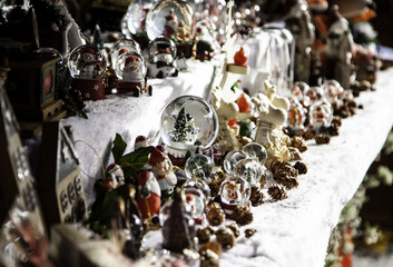 Christmas decoration in a market