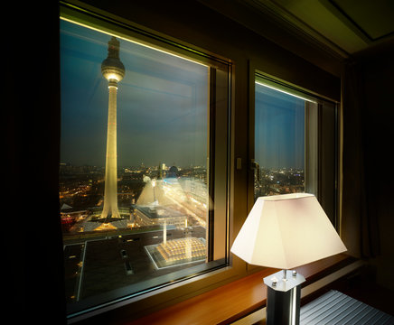 City view from hotel room in Berlin