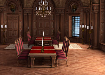 3D Rendering Castle Interior